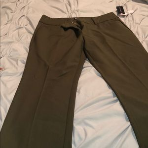New York and company olive dress pants size 8